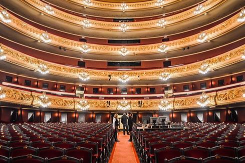 Gran teatro del Liceo en Barcelona-min