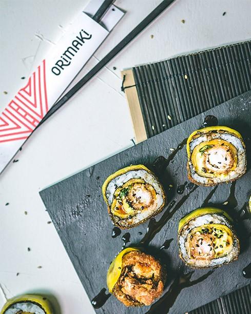sushi de marisco