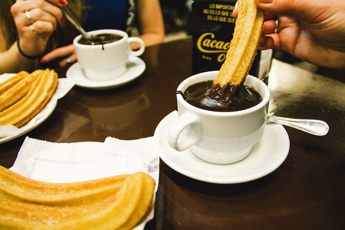 chocolate con churros en barcelona