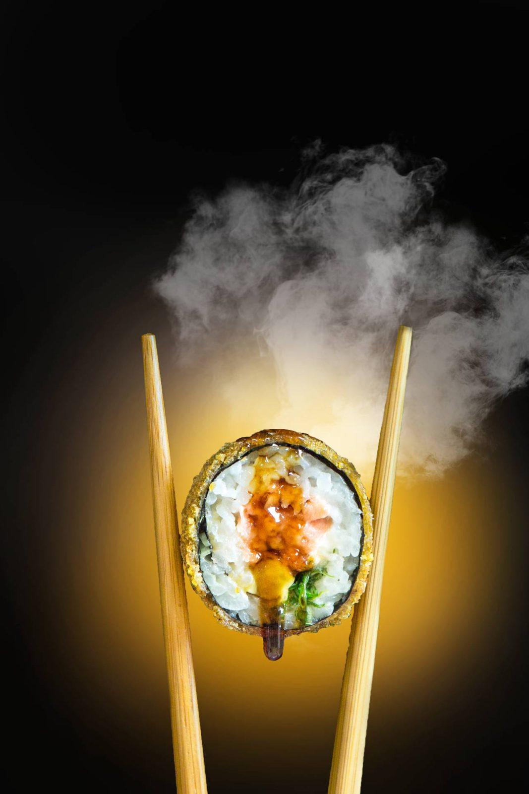 tempura tiger con palillos