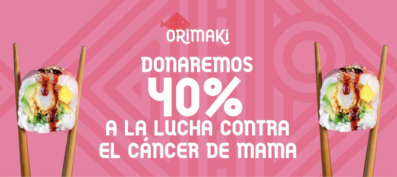 orimaki donación cáncer mama