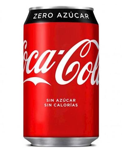 Lata de Coca cola Zero